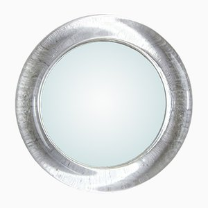 Espejo vintage redondo con marco de vidrio