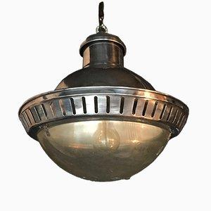 Lámpara de suspensión Holophane Mid-Century de aluminio