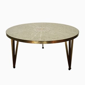 Table Basse en Mosaïque de Verre par Berthold Müller Oerlinghausen, 1950s