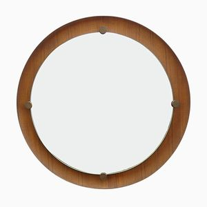 Organic Round Wall Mirror by Ezio Longhi for Elam, 1961