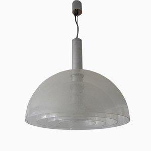Grande Lampe à Suspension Mid-Century en Verre de Murano par Carlo Nason pour Mazzega, 1960s