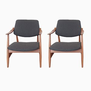 Easy Chairs by Louis van Teeffelen for WéBé, 1950s, Set of 2