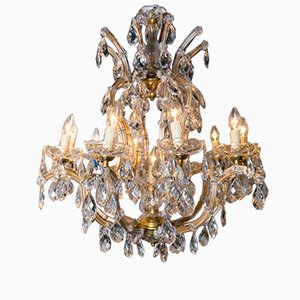 Italian Maria Theresa Crystal Chandeliers, 1950s, Set of 2
