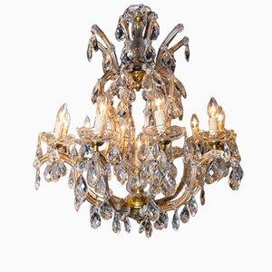 Lámparas de araña Maria Teresa italianas de cristal, años 50. Juego de 2