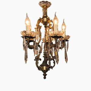 Lámpara de recibidor inglesa vintage de bronce