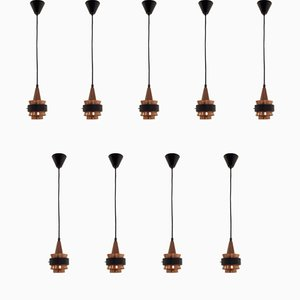 Scandinavian Ceiling Pendants, 1960s, Set of 9