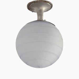 Lámpara de pasillo Mid-Century de vidrio de Orrefors, años 50