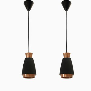 Lámparas de techo escandinavas, años 60. Juego de 2