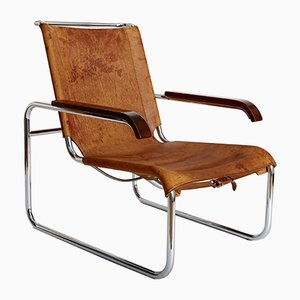 Sedia cantilever S35 Bauhaus di Marcel Breuer per Thonet, anni '20