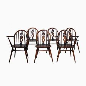 371 & 371A Windsor Esszimmerstühle von Lucian Ercolani für Ercol, 1960er, 6er Set