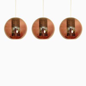 Lampes à Susension Modèle NT63/E00 Vintage en Verre Violet Transparent de Philips, Set de 3