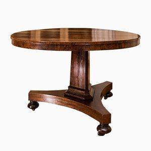 Mesa de desayuno inglesa antigua de palisandro