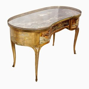 Bureau Antique Chnoiserie Courbé, France, 1860s