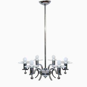 Vintage Chromed Chandelier