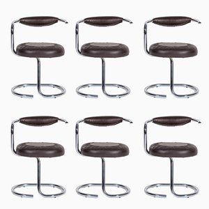 Cobra Chairs by Giotto Stoppino for Kartell, 1970s, Set of 6