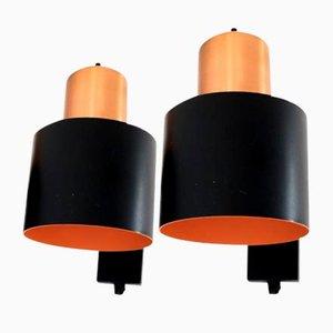 Alfa Wandlampen von Jo Hammerborg für Fog & Mørup, 1966, 2er Set