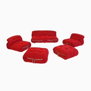 Soriana Living Room Set by Afra & Tobia Scarpa, 1970s, Set of 5