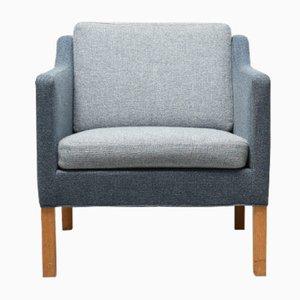 Vintage Model 2521 Blue Easy Chair by Børge Mogensen for Fredericia
