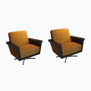 Large Lounge Chairs, 1960s, Set of 2