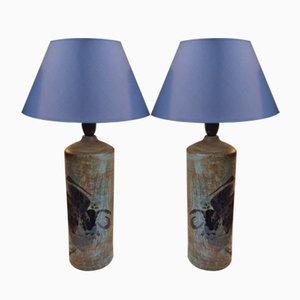 Dänische Moderne Steingut Tischlampen von Conny Walther, 1970er, 2er Set