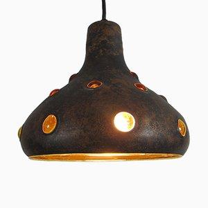 Lampe à Suspension Vintage en Laiton et Verre par Nanny Still pour Raak, 1960s