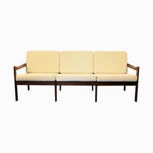 Dänisches Vintage Teak 3-Sitzer Sofa von Illum Wikkelso für Niels Eilersen