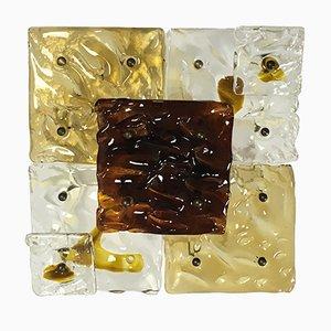 Italienische Murano Glas Wandleuchte in Patchwork-Optik von Venini, 1960er