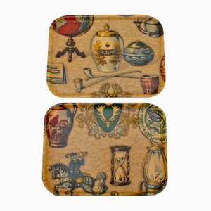 Viennese Serving Trays, 1960s, Set of 2