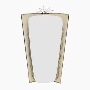 Specchio da parete con luce, anni '50