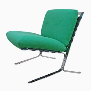 Vintage Green Lounge Chair by Olivier Mourgue