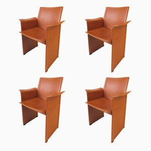 Italian Korium KM1 Chairs by Tito Agnoli for Matteo Grassi, 1970s, Set of 4