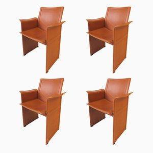 Italienische Korium KM1 Stühle von Tito Agnoli für Matteo Grassi, 1980er, 4er Set