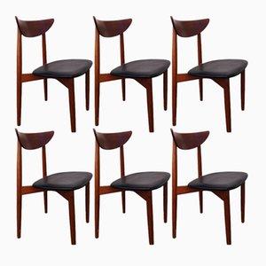 Dänische Teak Stühle von Harry Ostergaard, 1960er, 6er Set