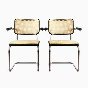 Vintage Black S64 Bauhaus Cantilever Chairs by Marcel Breuer & Mart Stam for Thonet, Set of 2