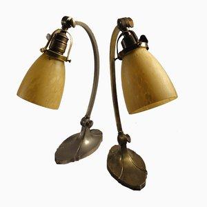 Lampade da tavolo Art Nouveau, anni '20, set di 2
