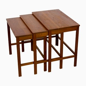 Danish Modern Teak Nesting Tables by Peter Hvidt & Orla Mølgaard Nielsen for France & Søn, 1960s