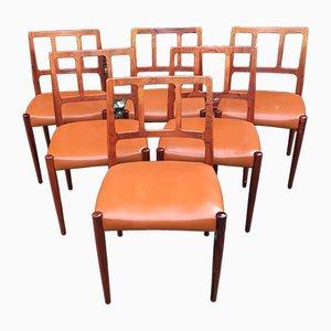 Chaises de Salon en Palissandre Massif par Johannes Andersen pour Uldum Møbelfabrik, 1960s, Set de 6