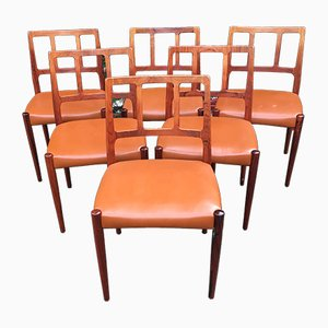 Solid Rosewood Dining Chairs by Johannes Andersen for Uldum Mobelfabrik, 1960s, Set of 6