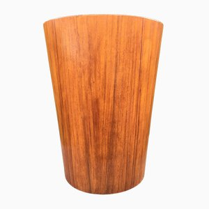 Large Teak Veneer Waste Paper Bin by Martin Alberg for Servex, 1960s