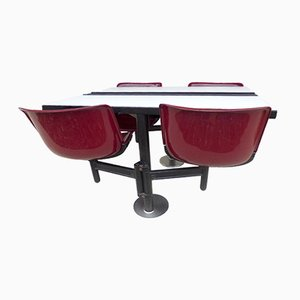 Table Modus avec Chaises par Osvaldo Borsani pour Tecno, 1970s