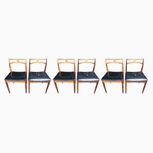 Chaises de Salon en Palissandre par Johannes Andersen pour Christian Linneberg, Danemark, 1960s, Set de 6