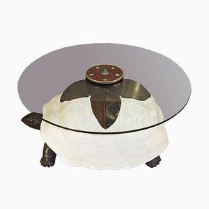 Tavolino da caffè con tartaruga di Anthony Redmile, anni '80