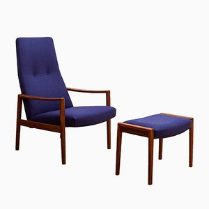 Danish Teak Lounge Chair & Ottoman by Illum Wikkelsø, 1960s