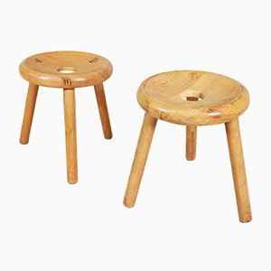 Finnish Stools by Bertel Gardberg for Noomarkun Käsityöt, 1960s, Set of 2