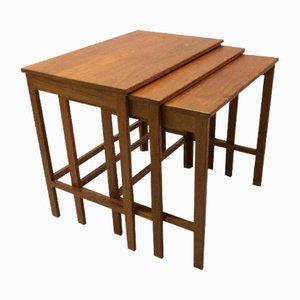 Tavolini a incastro in teak di Peter Hvidt & Orla Mølgaard, anni '60