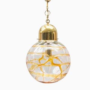Lámpara vintage esférica de cristal de Murano, años 60