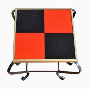 Mesa vintage roja y negra