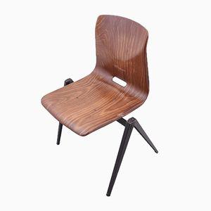 Vintage S22 Stuhl in Braun von Galvanitas