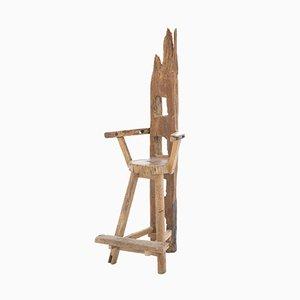 Skulpturaler Französischer Stuhl, 1940er
