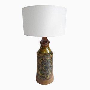 Lámpara de mesa brutalista sueca grande de cerámica, años 70